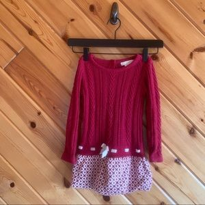 Maggie & Zoe Cable Knit Bubble Hem Dress 2T